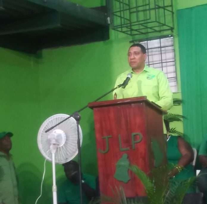 PM Holness Urges Supporters to Temper  Financial Expectations of Political Representatives
