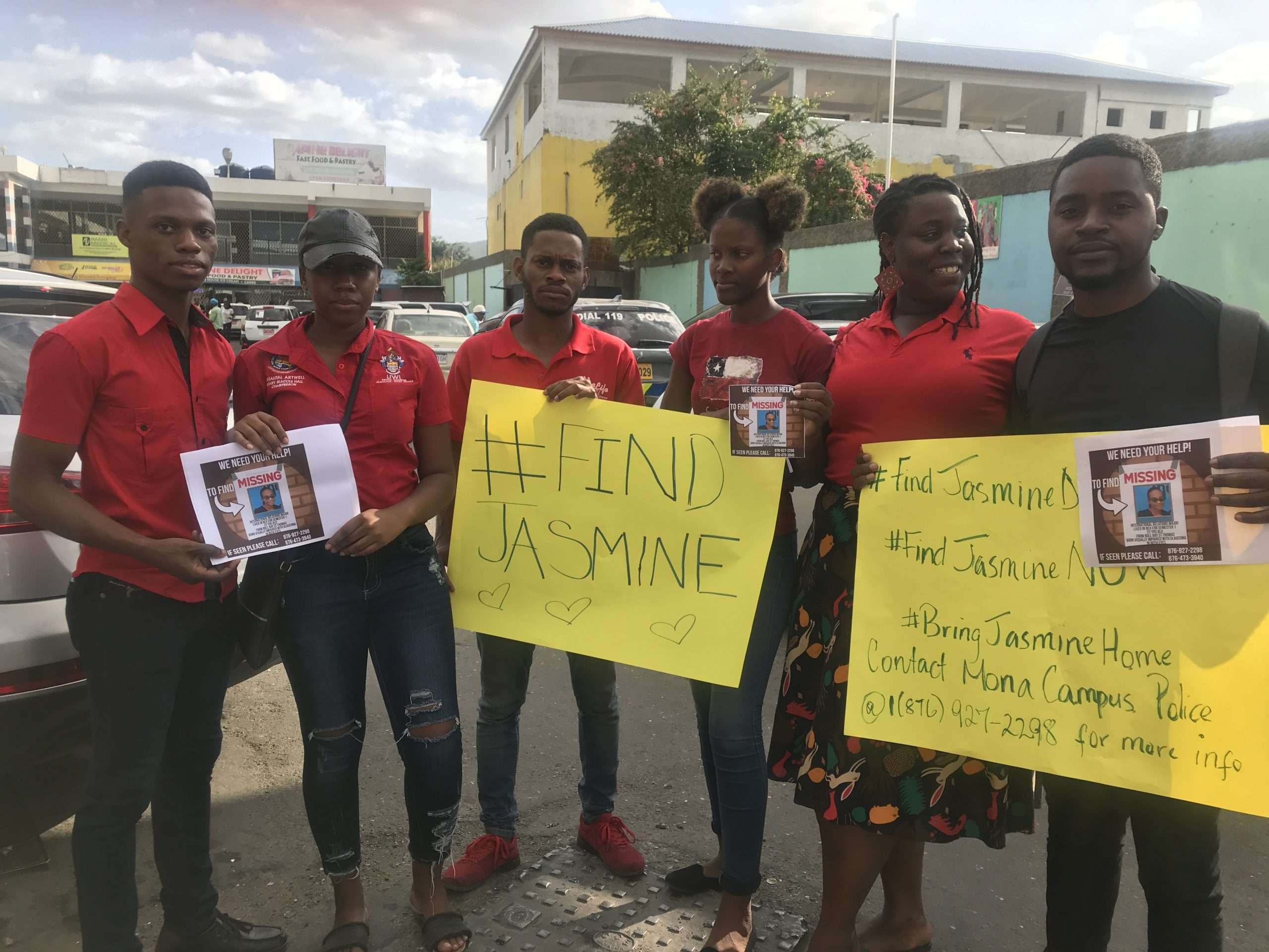 Search for Jasmine: Scores of UWI, Mona Students Hand Out Flyers in Effort to Find Missing Jasmine Deen