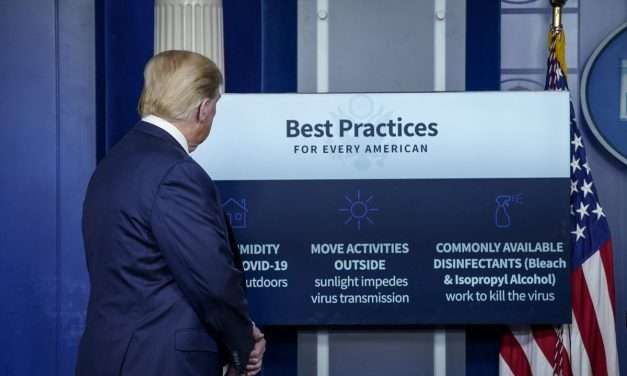 Trump Suggests 'Injection' of Disinfectant To Beat Coronavirus And 'Clean' The Lungs