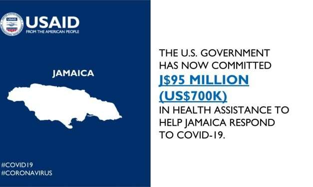 US Gov't Commits J$95M To Jamaica To Help Contain COVID-19