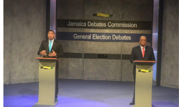 #VOTE2020: Holness, Phillips Paint Contrasting Picture of Country in Leadership Debate