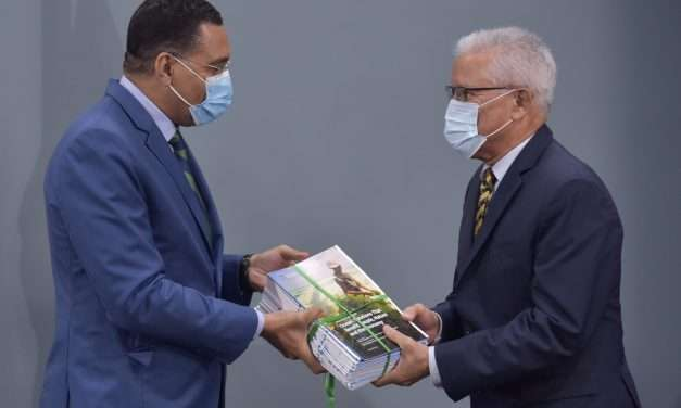 PM Holness Hands Over Blue Papers for Jamaica's Ocean Economy Plan