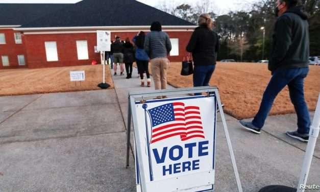 Georgia Residents Head to the Polls to Cast Votes in Senate Run-off
