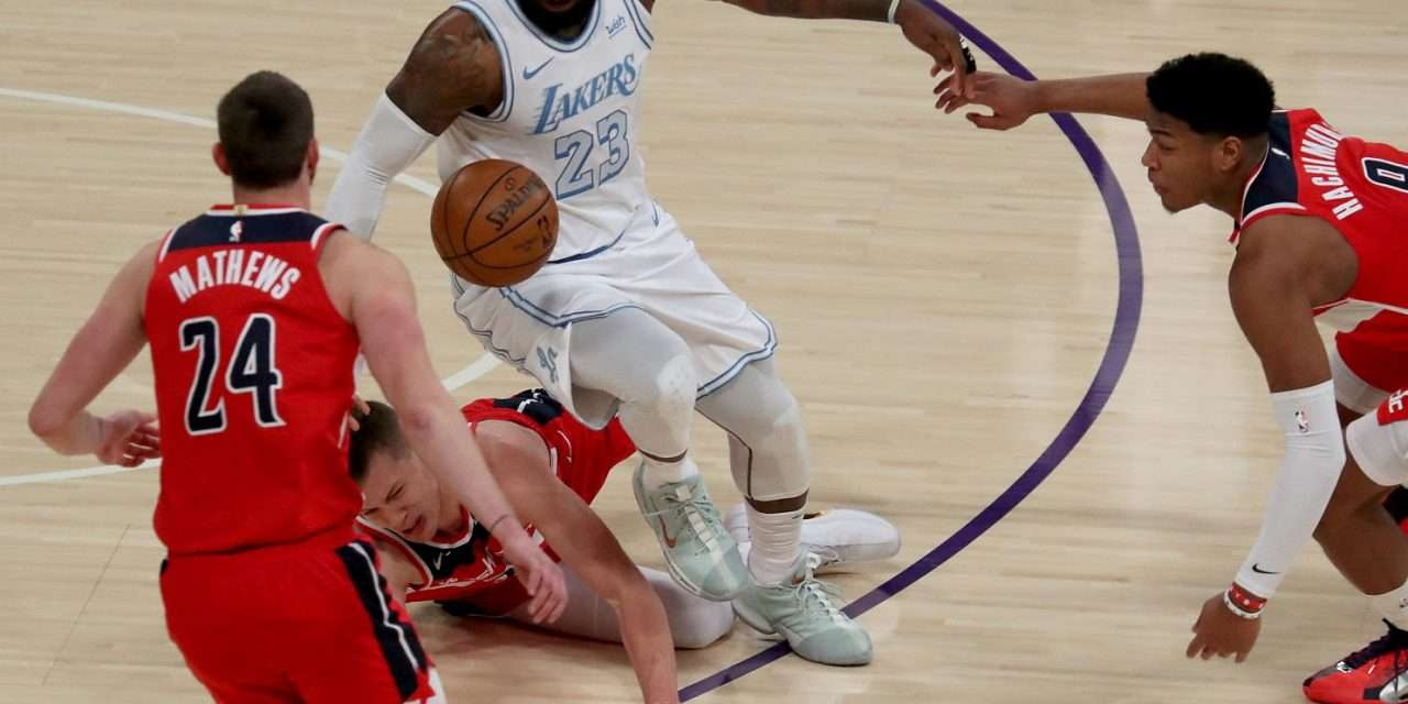 Lakers Blow 17 point Lead To Lose Against Resurgent Wizards