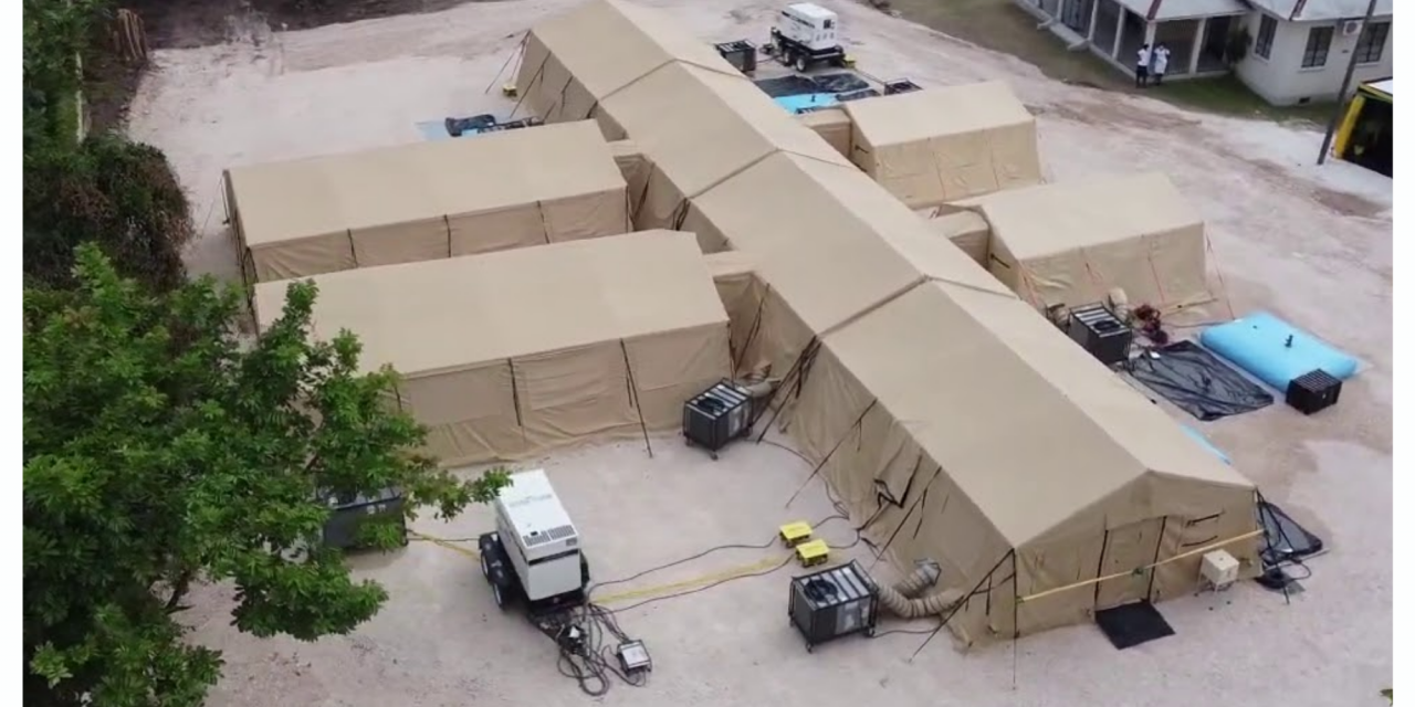 Authorities Rush to Complete COVID-19 Field hospital in Falmouth As Space in St. James Runs Out