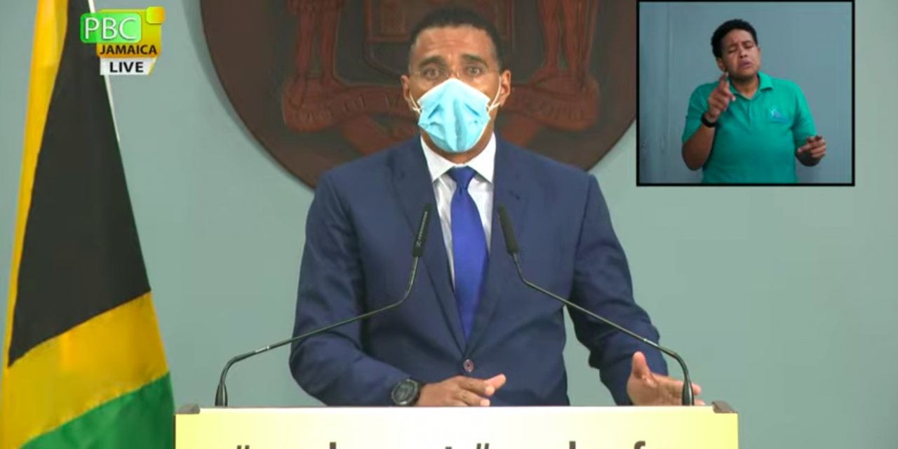Prime Minister Holness Announces Tightened Covid-19 Restrictions