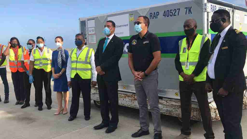 300,000 doses of the Oxford AstraZeneca vaccines have arrived in Jamaica from the UK