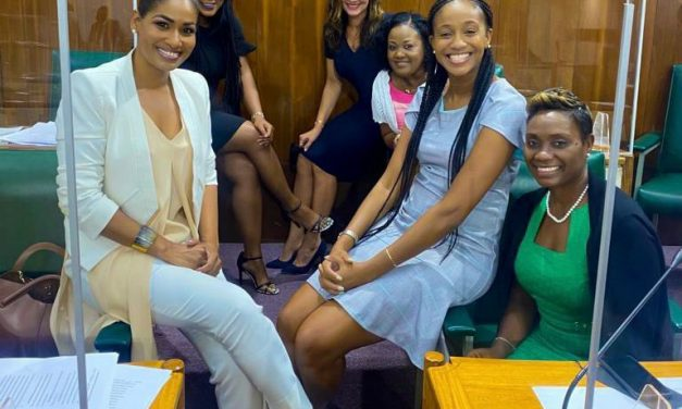 Lisa Hanna and Ann-Marie Vaz Stand in Solidarity with Rhoda Moy Crawford