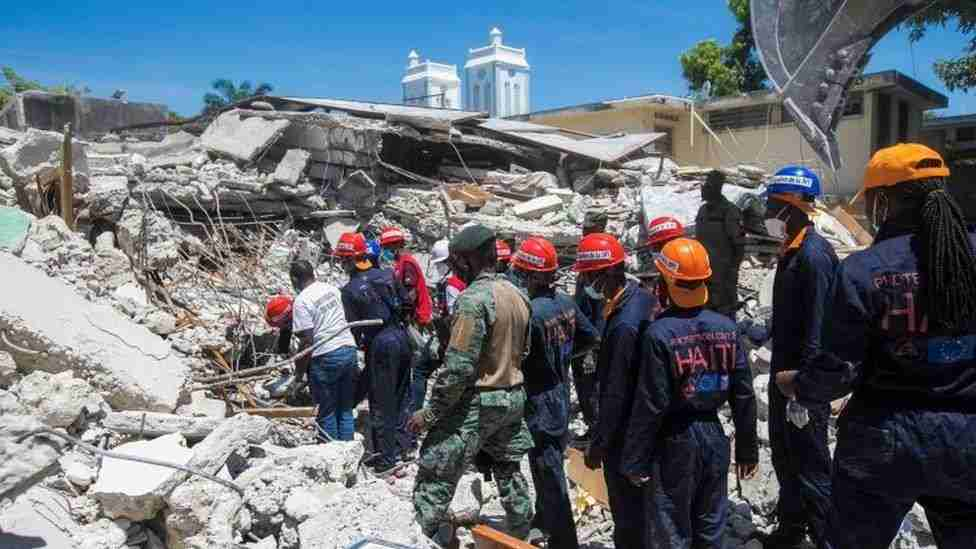 Double Trouble for Haiti: Rescue Crews Race to Find Earthquake Survivors as Tropical Storm Threat Looms