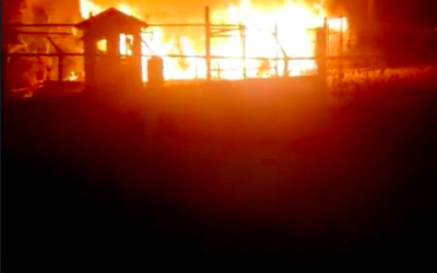 Fire Destroys Section of a Craft Shop at Grand Palladium Hotel