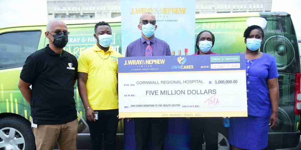 J. Wray and Nephew Moves To Make Multi-Million Dollar Contribution to Efforts To Combat Covid-19